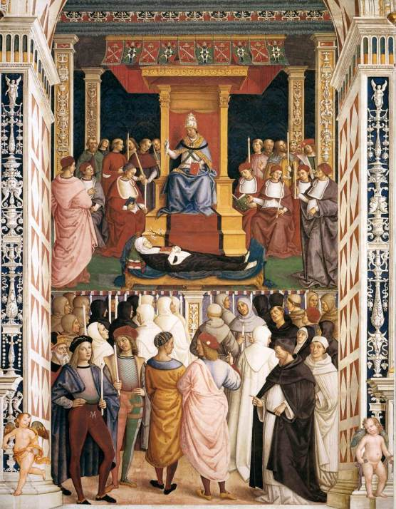 Pinturicchio_s The Canonisation of Saint Catherine of Siena.
